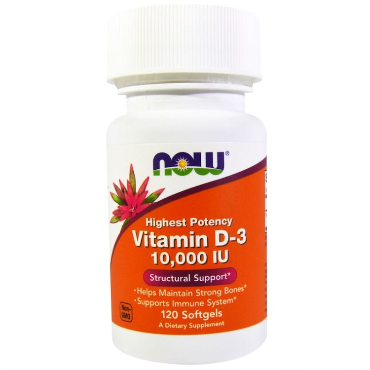 Vitamin D-3 10000 ME от now 120 капсул