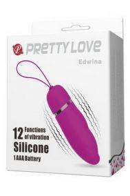 Виброяйцо Baile Pretty Love Edwina розовое, 9,2*3 см