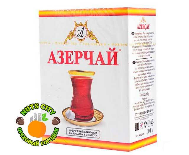 Азерчай черный с ароматом бергамота 100гр