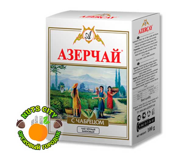 Азерчай черный с чабрецом 100гр