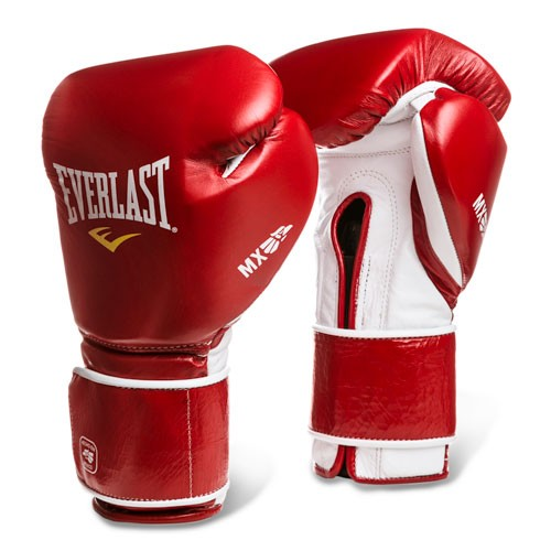 Перчатки тренировочные Everlast  MX Training на липучке 12oz красные, артикул 2200000