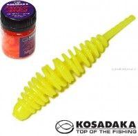 Мягкие приманки Kosadaka Leech Fat 42 мм / упаковка 9 шт / Сыр / цвет: CH