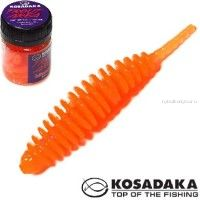 Мягкие приманки Kosadaka Leech 42 мм / упаковка 10 шт / Сыр / цвет: OR