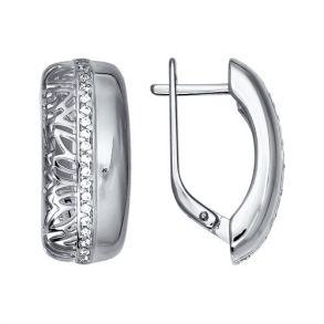 Серьги из серебра с фианитами 94021235 SOKOLOV