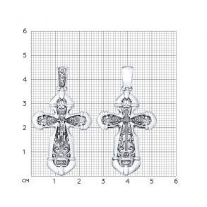 Крест из чернёного серебра 95120068 SOKOLOV