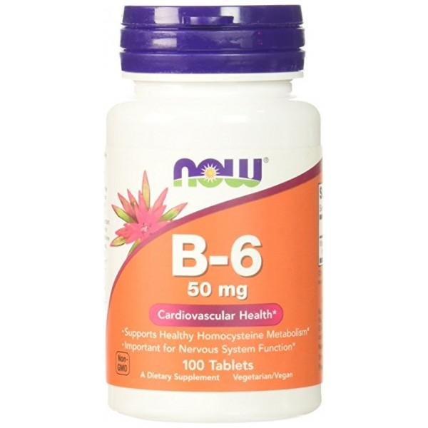 B-6 50 mg от NOW 100 таб