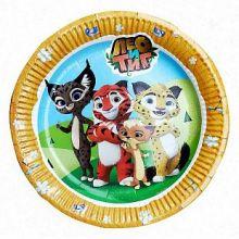 "Тарелки ""Лео и Тиг""(картон, 18 см, 6 шт/уп)"