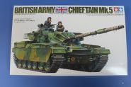 Английский танк Chieftain Mk.5 1960г. с 120-мм пушкой и 3 фигурами