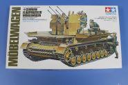 Нем. 4-х ствольная зенитка Flakpanzer IV Mobelwagen с 4 фигурами