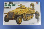 Полугусеничный бронетранспортер Mtl.Spw Sd.Kfz.251/1 Ausf.D с 4 фигурами