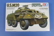 Американский трехосный бронетранспортер М20 с полной внутренней деталировкой и 2 фигурами