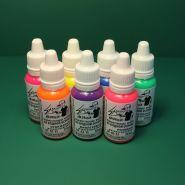 Набор флуоресцентных красок Exmix - 7 цветов