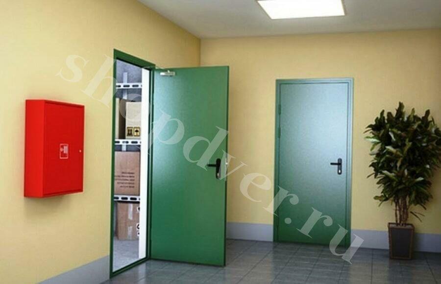 Противопожарные  двери с пределом огнестойкости (EI- 60) металлические противопожарные двери