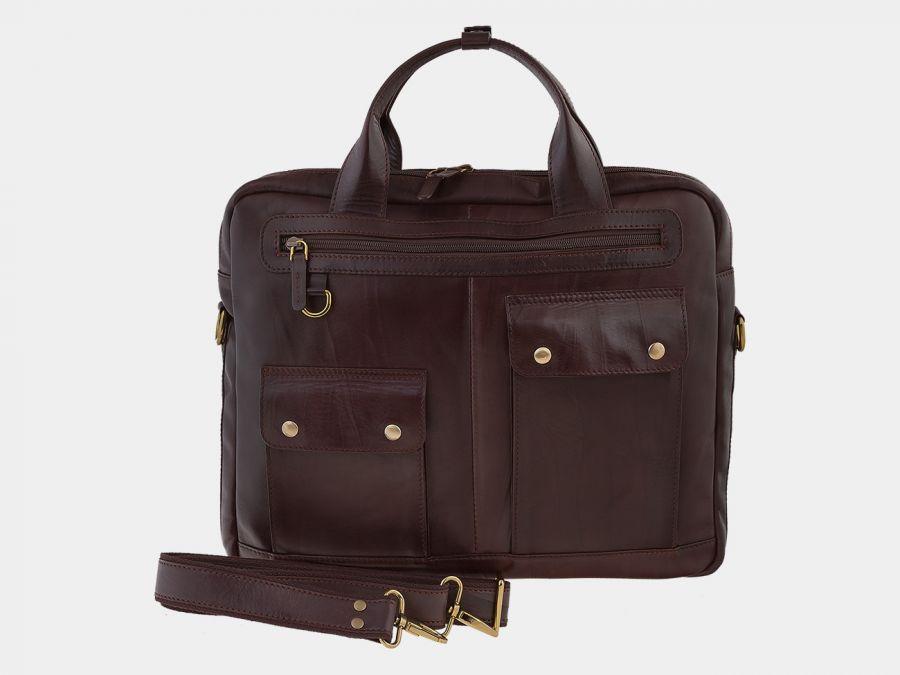 Сумка-портфель из натуральной кожи ALEXANDER-TS «PF0019 Brown»