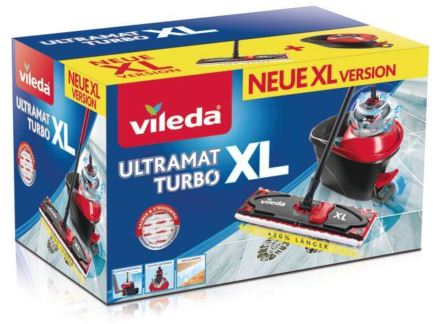Набор Vileda Ultramat Turbo XL (швабра + ведро c педальным отжимом )