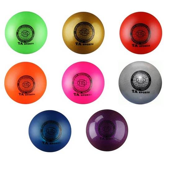 Мяч для худ. гимнастики INDIGO I-1 15cм 300г металлик с блестками