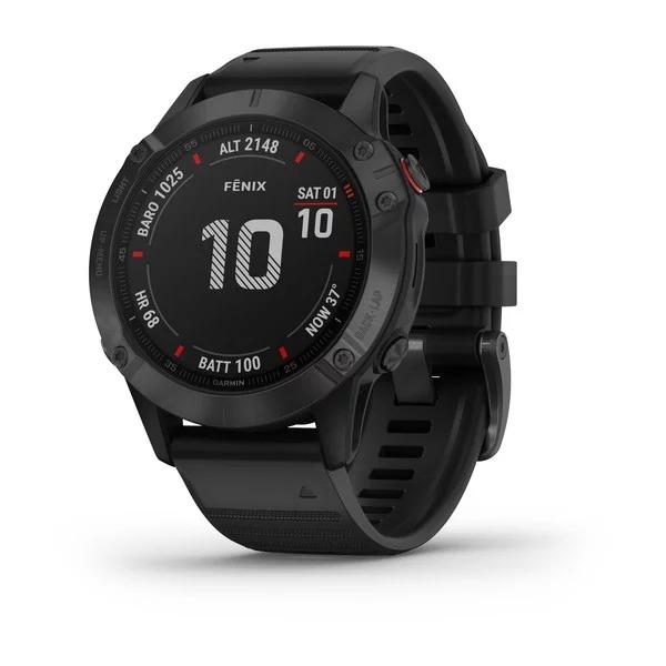 Часы Garmin Fenix 6 черный с черным ремешком