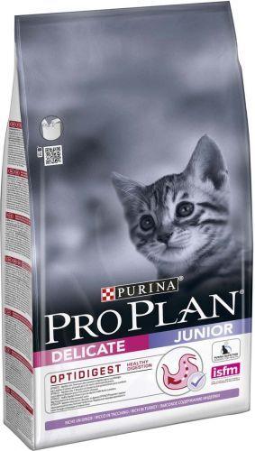 Корм сухой Pro Plan Junior Delicate для котят с индейкой
