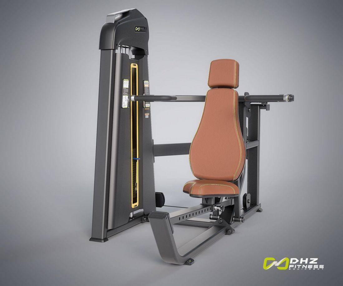 E-1080B Многопозиционный вертикальный/наклонный жим (Multi push). Стек 109 кг.