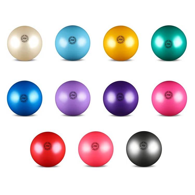 Мяч для худ. гимнастики INDIGO FIG AB2801 19cм 420г металлик