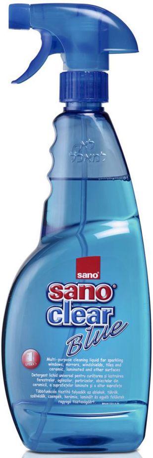 SANO Сlear Blue жидкость для чистки стекла, зеркал, керамики 1 л