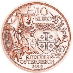 Приключения ( Годфри Бульонский) 10 евро Австрия 2019 Серия «С кольчугой и мечом»