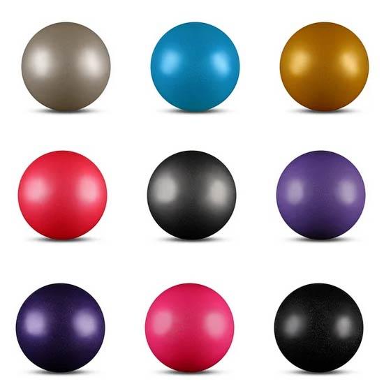 Мяч для худ. гимнастики INDIGO AB2803В 15cм 300г металлик с блестками