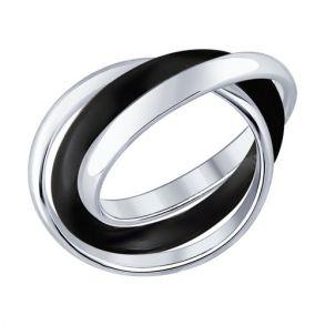 """Кольцо из серебра с керамикой  """"Trinity"""" 94011642"""