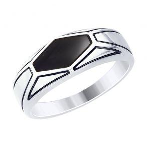 Кольцо из серебра с эмалью 94012536 SOKOLOV