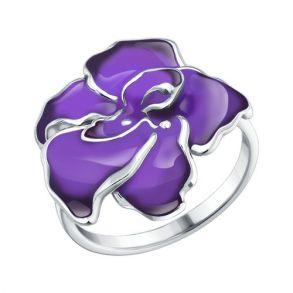Кольцо из серебра с эмалью 94010385 SOKOLOV