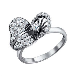 Кольцо из серебра с фианитами 94010718 SOKOLOV