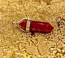 Биолокационный маятник натур камень Агат Рубиновый
