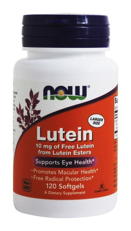 Lutein 10 мг от NOW 120 таб
