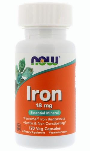 Iron железо 18 мг от NOW Foods 120 капсул