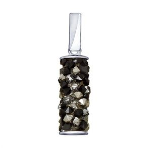 Подвеска из серебра с чёрными кристаллами Swarovski 94032186 SOKOLOV