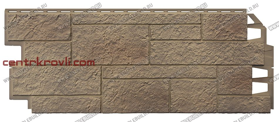 Фасадная панель «VOX», Solid Sandstone Light Brown 1000*420