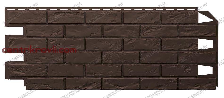Фасадная панель «VOX», Vilo Brick тёмно-коричневый 1000*420