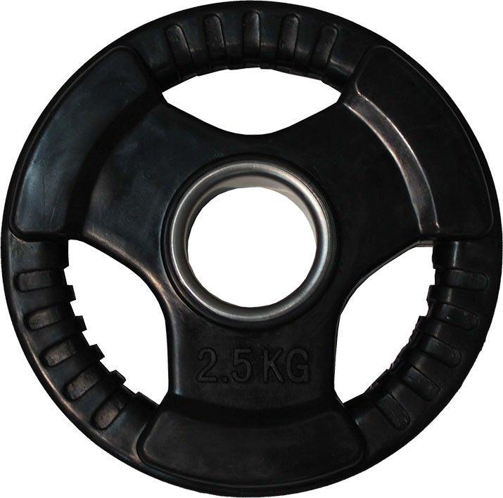 """Диск обрезиненный ZSO черный """"3 HANDLE"""" D-51, 2,5 кг"""