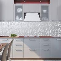 Фартук для кухни - Серебряный дождь | интерьерные наклейки