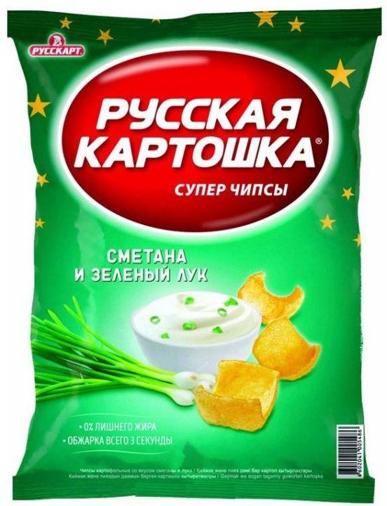 Чипсы Русская картошка сметана/лук 80г