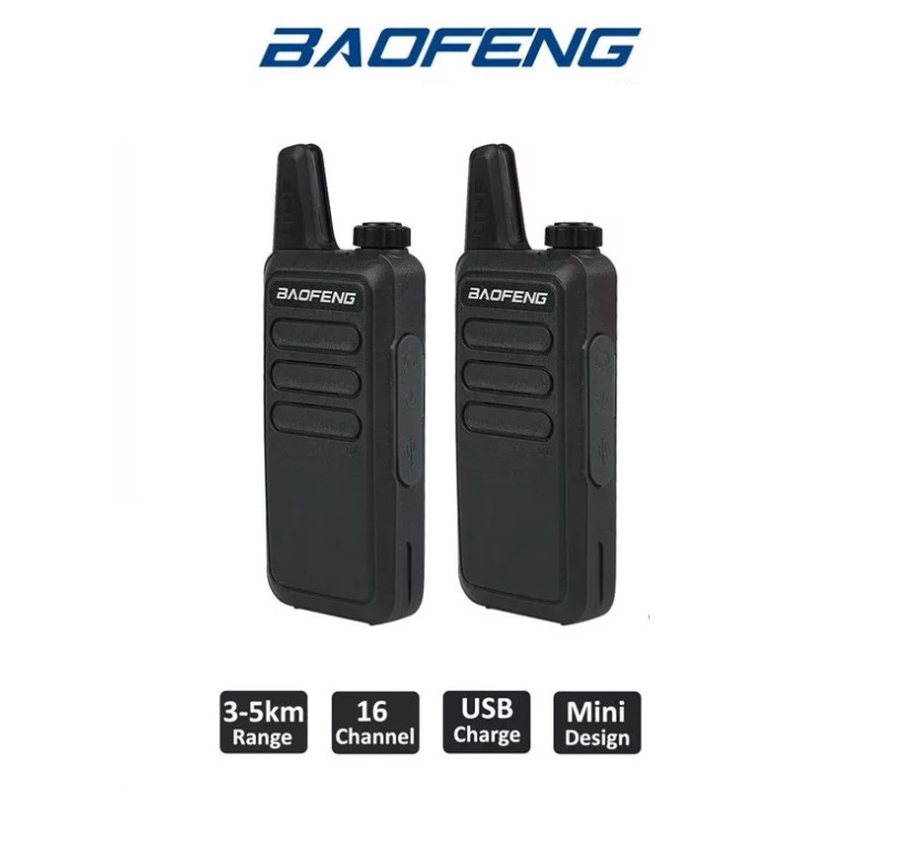 Комплект раций Baofeng BF-R5 черная - 2 шт
