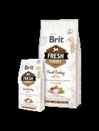 Brit Fresh Light Fit & Slim Turkey with Pea Корм для собак, контроль веса, с индейкой и горохом (12 кг)
