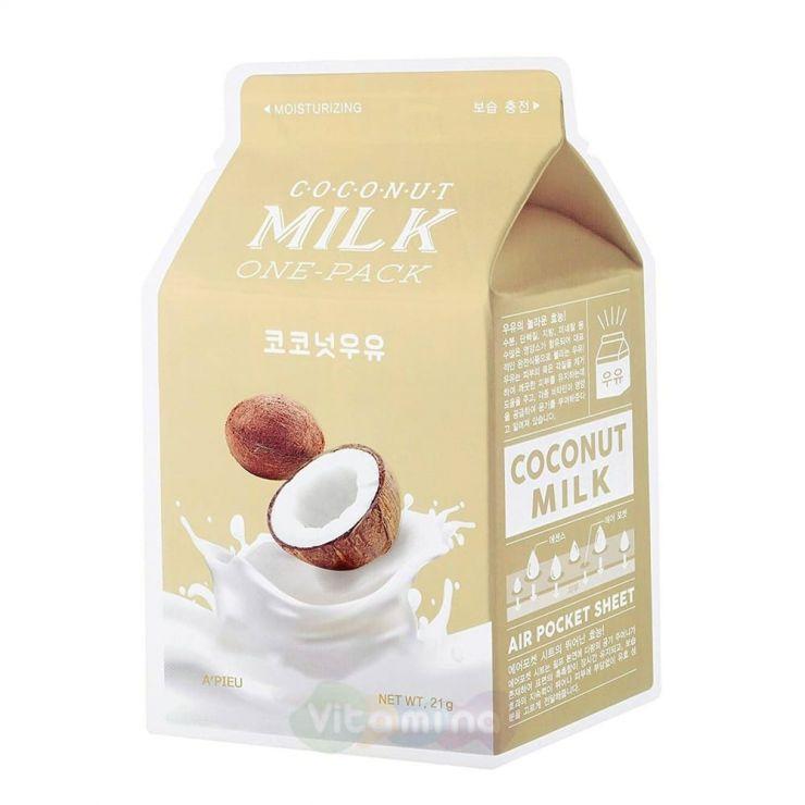 A'Pieu Увлажняющая маска с экстрактом кокоса Coconut Milk One-Pack, 21 мл
