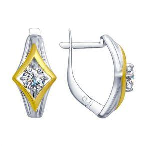 Серьги из серебра с фианитами 94022581 SOKOLOV