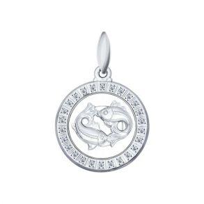 Подвеска «Знак зодиака Рыбы» из серебра 94031394 SOKOLOV