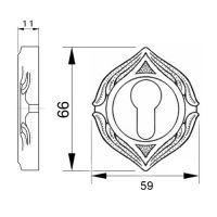 Накладка на замок с цилиндром Mestre 0EY073.схема