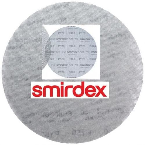 Абразивный круг сетка SMIRDEX Net P220 225 мм Velcro Discs 750