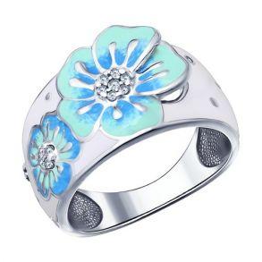Кольцо с цветами 94011498 SOKOLOV