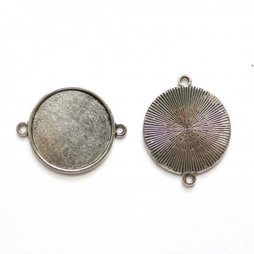 Рамка сеттинг, №15, коннектор, тибетское серебро, 2 шт/упак