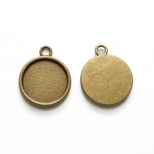 Рамка сеттинг, №16, старая бронза, 2 шт/упак